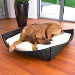 Bowl Luxury Faux Leather Orthopaedic Dog Bed