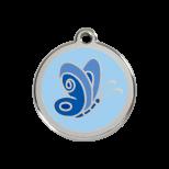 Blue Enamel Tag - Butterfly