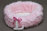 Baby Girl Faux Fur Pet Bed - Personalised
