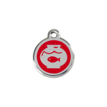 Red Enamel Tag - Fish Bowl