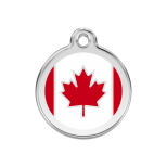 Enamel Tag - Canadian Flag