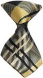 Cream Plaid Dog Neck Tie
