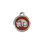 Brown Enamel Tag - Kitten