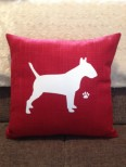 Personalised English Bull Terrier Dog Scatter Cushion