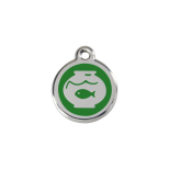 Green Enamel Tag - Fish Bowl