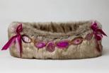 Dhabi Rose Faux Fur Pet Bed