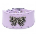 Mariposa Leather Whippet Collar