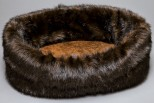 Loft Brown Faux Fur Pet Bed