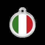 Enamel Tag - Italian Flag