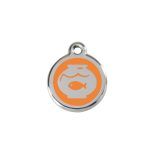 Orange Enamel Tag - Fish Bowl