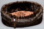 Chocolate Faux Fur Bed