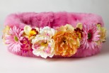 Flower Bomb Faux Fur Pet Bed