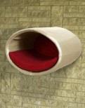 Rondo Wall, a Modern Cat Tree [Leather]