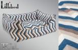 Lillibed 3D Graphic Vintage Pet Sofa - Vision Blue