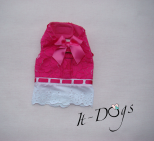 Pink Cotton Dog Harness