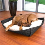 Bowl Luxury Faux Leather Orthopaedic Dog Bed