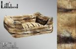 Lillibed Chinchilla Faux Fur Vintage Pet Sofa - Brown / Beige
