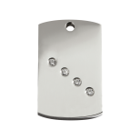 Diamante Polished Stainless Steel Tag - Rectangle