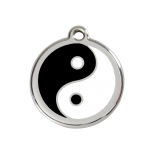 Enamel Tag - Ying and Yang