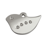 Diamante Polished Stainless Steel Tag - Bird