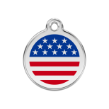 Stars and Stripes Enamel Tag - American Flag
