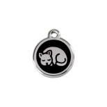 Black Enamel Tag - Kitten