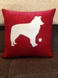 Personalised Border Collie Dog Scatter Cushion