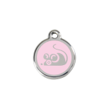 Light Pink Enamel Tag - Mouse