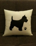 Personalised Westie Dog Scatter Cushion