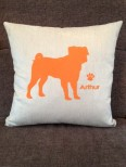 Personalised Pug Dog Scatter Cushion