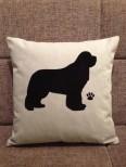 Personalised Newfoundland Dog Scatter Cushion