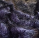Luxury Faux Fur Pet Throw - Blue/Black Mink