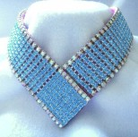 Aqua Empress Dog Collar