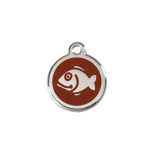 Brown Enamel Tag - Fish