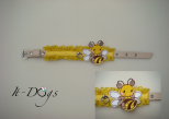 Leather Dog Collar - Bee