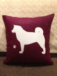 Personalised Akita Dog Scatter Cushion