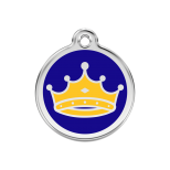 Dark Blue Enamel Tag - King