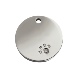 Diamante Polished Stainless Steel Tag - Circle