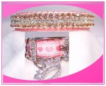 Pink Heart Princess Dog Collar