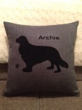 Personalised King Charles Spaniel Dog Scatter Cushion
