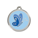 Blue Enamel Tag - Butterfly