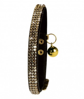 Black Swarovski Cat Collar