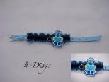 Leather Dog Collar - Robot