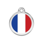 Enamel Tag - French Flag