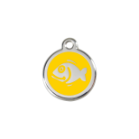 Yellow Enamel Tag - Fish