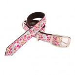 Amberley Liberty Print Floral Pink Designer Dog Collar