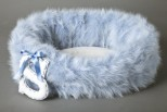 Baby Boy Faux Fur Pet Bed - Personalised