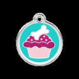 Glitter Enamel Tag - Cupcake