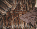 Luxury Faux Fur Pet Throw - Russian Sable