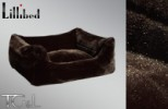 Lillibed Mink Faux Fur Vintage Pet Sofa - Brown